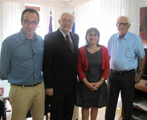 Juan Manuel Gómez Gordiola, Fernando Bosch, Antònia Maria Estarellas y Joan Alorda.