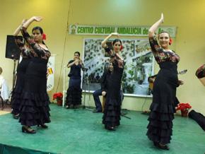 La actuación del grupo de baile de la entidad fue del agrado del público presente.