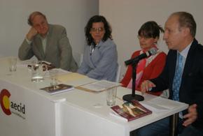 Cox, Castaño Blanco, Mignone y Jarne durante la presentación.