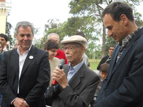 Manuel García Ferré, centro, en un momento del homenaje.