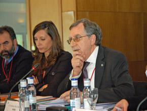 Francisco Ruiz en el I Pleno del VI Mandato del CGCEE celebrado en Santiago de Compostela en octubre de 2012.