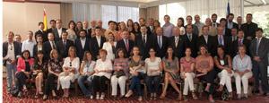 Mariano Rajoy con afiliados y simpatizantes del PP en Chile.