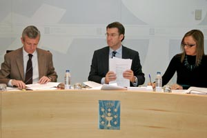 Reunión del Consello de la Xunta del jueves 31 de enero en la que se aprobó el proyecto de la nueva Lei de Galeguidade.