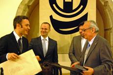 Manoel Carrete, Jesús Vázquez Abad, Antonio Rodríguez Miranda y Justo Beramendi.