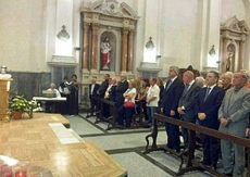 Un momento del funeral en memoria de Elba Calvo celebrado en Buenos Aires.