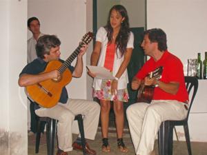 Una de las actuaciones durante la presentación de la revista.