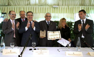 Isabel Carrasco, con Manuel Arias, Juan Ignacio Zoido y José Colinas, entre otros.