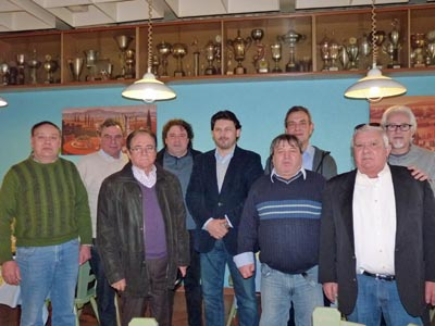 Rodríguez Miranda con los directivos de los centros gallegos.