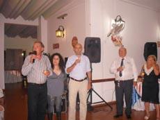 David Garijo, La Morita, el canciller Fernando Roldán y miembros de la entidad.