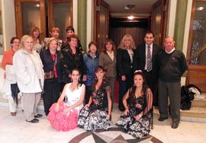 Algunos de los asistentes a la celebración del Día de Andalucía en Trelew.