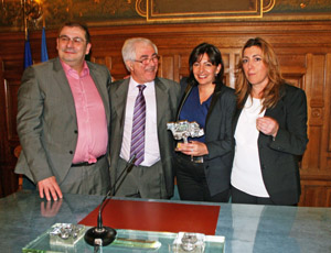 Pascal Cherki, Manuel Navarro, Anne Hidalgo y Susana Díaz.