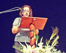 La presidenta del Centro Andaluz del Perú, Carmen Pérez Poyón.