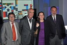 Autoridades en la fiesta conmemorativa de los diez años del Centro Cultural de España en Montevideo.