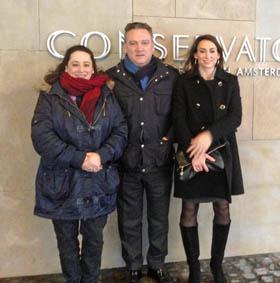 Rosario Mendes Rico, Alfredo Prada y Elisa Robles.