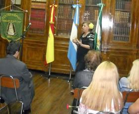 Intervención de la presidenta de la institución, Norma Febrer.