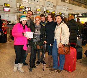 Antes de partir hacia Alemania.