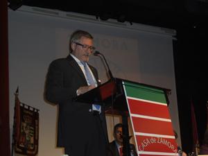 El pregonero, Jesús Ramos, durante su intervención.