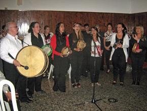 Actuación de la banda del Valle Miñor.
