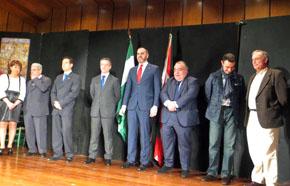 Rosi Romero, Juan Gracia, Antonio José Lucas, Íñigo Urkullu, Josu Bergara, Tontxu Rodríguez, Mikel Torres y Antón Sáenz de Santamaría.