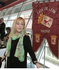 La presidenta de la Diputación, Isabel Carrasco, en la Casa de León en Madrid.