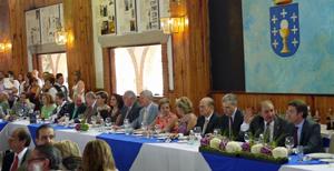 Un momento del encuentro con la colectividad gallega en México en el que participó Alberto Núñez Feijóo.