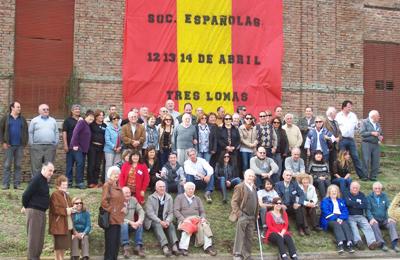 Los asistentes al 92 Congreso de la Federación Regional de Sociedades Españolas de la demarcación consular de Bahía Blanca que se celebró en la localidad de Tres Lomas.