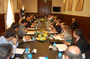 Reunión entre los propietarios de Soriana y empresarios de la provincia.