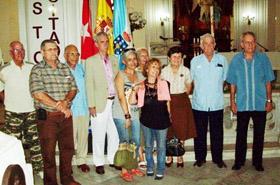 Algunos de los presidentes de entidades de emigrantes que acudieron a la celebración.