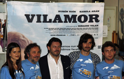 Sabela Arán, Ignacio Vilar, Rodríguez Miranda, Xoel Yáñez y Rubén Riós.