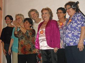 Imagen de las narradoras que participaron en el recital.