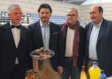 Antonio Rodríguez Miranda, centro, Jesús Vázquez Abad y Rogelio Martínez.