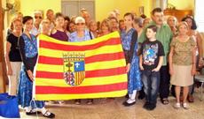 Directivos y socios de la Sociedad Aragonesa de Beneficencia.