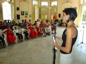 Alena Méndez hizo la semblanza de Valentín García Gómez.