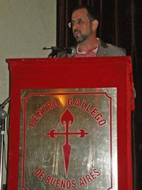 Monteagudo destacó el papel que los emigrantes jugaron en la reivindicación de la lengua y la cultura gallega.