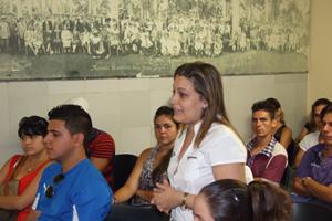Dalia Aylín Cruz Trutié, presidenta de la Comisión de Jóvenes.