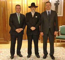 Alfredo Prada, Moisés Benarroch y Alberto Ruiz Gallardón.