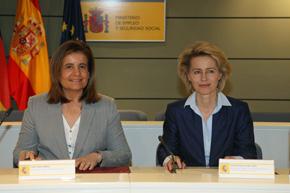 Fátima Báñez y Ursula Von der Leyen.