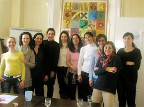 Socias fundadoras tras la firma del Acta Fundacional en el mes de marzo en Dublín.