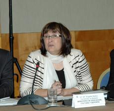 Intervención ante el pleno de la subdirectora general de Promoción Exterior Educativa, Mª Ángeles Muñoz.