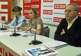 Paloma López Bermejo, Ana Fernández Asperilla y Ubaldo Martínez en la presentación del estudio.