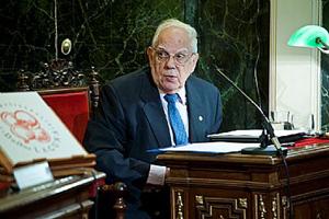 Antonio Horcajo, el actual presidente del Centro Segoviano de Madrid.