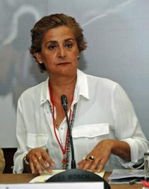 La secretaria federal de Emigración del PSOE y diputada en el Congreso, Carmela Silva.