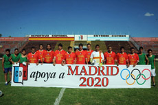 El plantel apoyó la candidatura de Madrid 2020 a lo largo de toda la temporada.