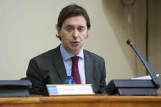 Jesús Gamallo compareció en el Parlamento gallego.