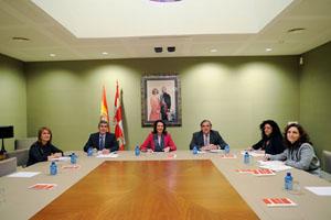Reunión de la Mesa de las Cortes Regionales que aprobó esta decisión.