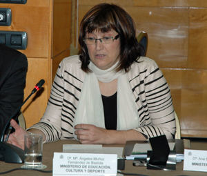 Intervención de la subdirectora general de Promoción Exterior Educativa, Mª Ángeles Muñoz Fernández de Bastida en el Pleno del CGCEE el pasado 18 de junio.