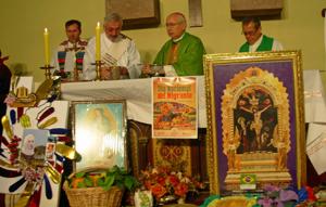Un momento de la celebración de la misa por el Día del Migrante.