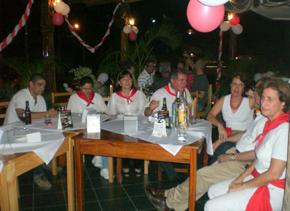 Algunos de los asistentes a la celebración de la fiesta de los Sanfermines en Nicaragua organizada por la Asociación Espanic.