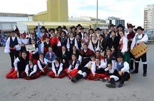 Imagen actual del grupo de baile gallego de la entidad.