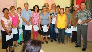 Veintiún socios recibieron diplomas de reconocimiento.
